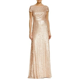 Adrianna Papell Womens Formal Dress Paillettes Full Length
