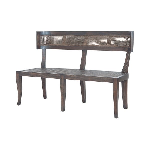 """GuildMaster 6516004 Country 48"""" Wide Mahogany Framed Bench - Heritage Dark Gray Stain"""