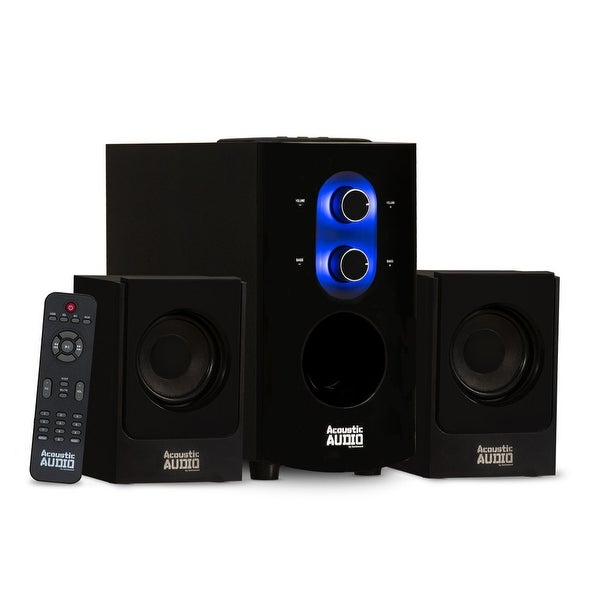 Acoustic Audio AA2130 Bluetooth Home 2.1 Speaker System for Multimedia Computer