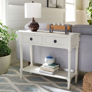 """Link to Safavieh Allura 2-Drawer Console Table - 35.5"""" W x 13"""" L x 29.5"""" H Similar Items in Living Room Furniture"""