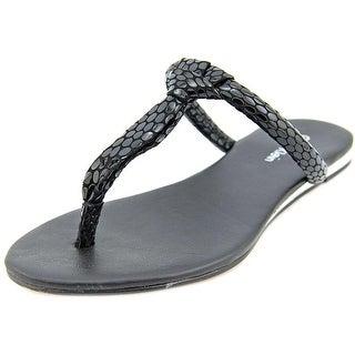 Calvin Klein Harla Open Toe Canvas Thong Sandal