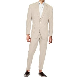 Lauren Ralph Lauren Mens Two-Button Suit Striped Notch Collar
