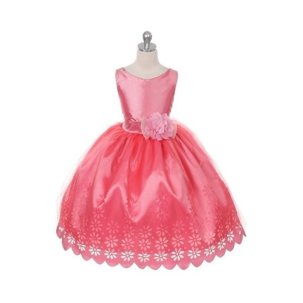 6832587bdde Chic Baby Mauve Flower Sash Sleeveless Easter Flower Girl Dress 4-12 - Free  Shipping Today - Overstock.com - 24318722