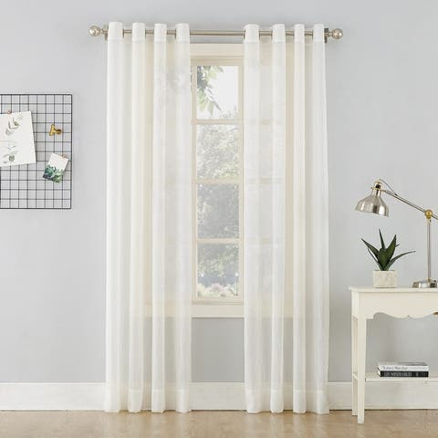 No. 918 Erica Crushed Voile Sheer Grommet Curtain Panel