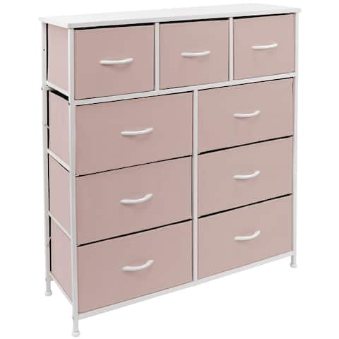 Dresser w/ 9 Drawers Furniture Storage & Chest Tower for Bedroom