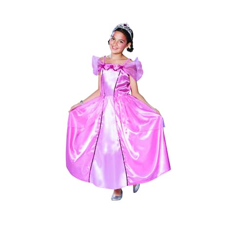 Pink Princess Girl's Dress Halloween Children's Costume - 7-9 Years - Large