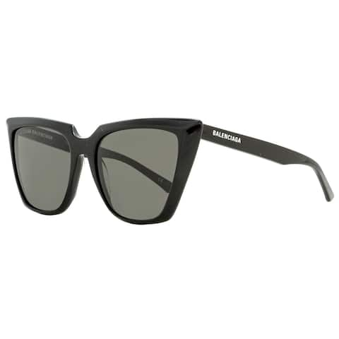 Balenciaga BB0046S 001 Womens Black 55 mm Sunglasses