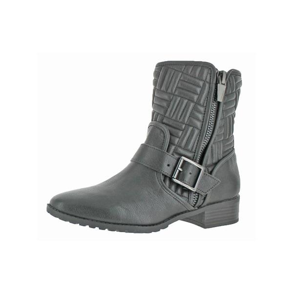 Calvin Klein Womens Rauline Ankle Boots Quilted Round Toe - 8 medium (b,m)
