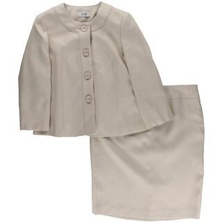 Le Suit Womens Tweed 2PC Skirt Suit