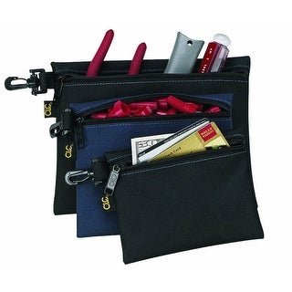 CLC 1100 3 Multi-Purpose Clip-On Zippered Bags, 3 Bags