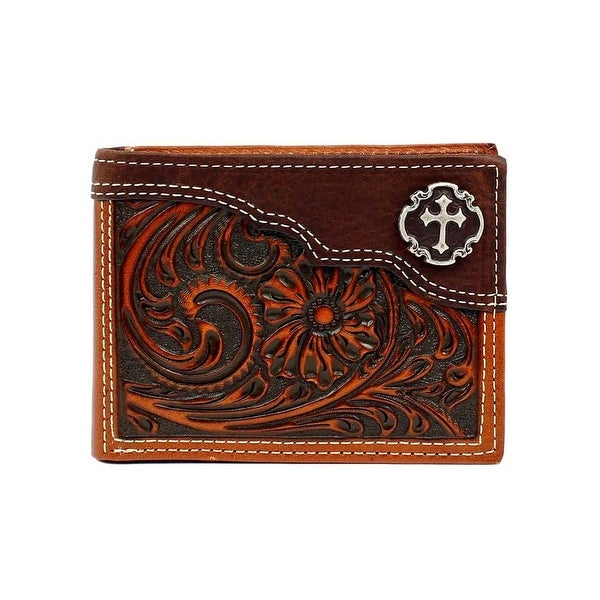 Nocona Western Wallet Mens Bifold Removable Pass Case Tan - One size
