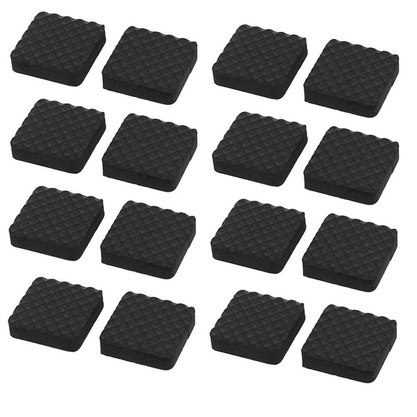 Table Legs Self Adhesive Square Design Furniture Protection Pads 18mmx18mm 16pcs