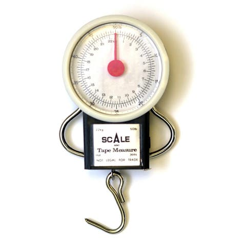 """Eagle Claw 0848-2222 Pocket Scale with 38"""" Tape, 28 Lbs"""