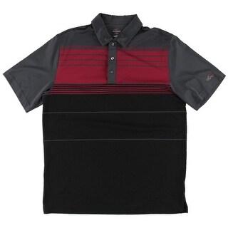 Greg Norman Mens Casual Shirt Moisture Wicking Striped - L
