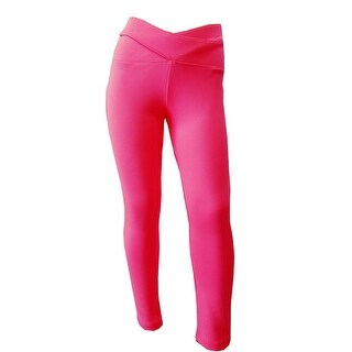 Little Girls Neon Pink Cone Shaped Waist Stretchy Legging Style Pants