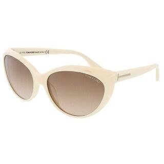 Tom Ford FT 231/S 25F Martina Ivory Full Rim Cateye Sunglasses