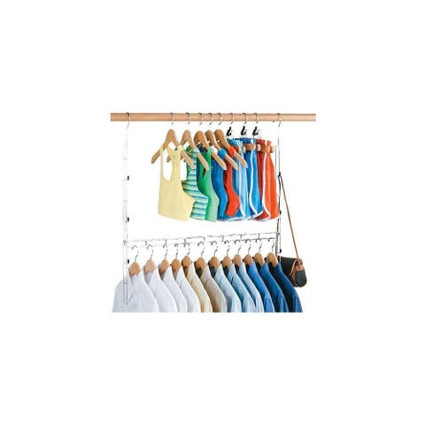 "Organize It All 1346W 30"" Wide Adjustable Closet Rod - - Chrome"
