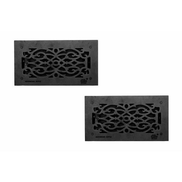 2 Floor Heat Register Louver Vent Victorian Cast 6 x 12 Duct |Renovator's Supply