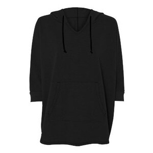 Shop Women s Vintage French Terry Gameday Poncho - Black - XS S - Free  Shipping On Orders Over  45 - Overstock.com - 16234471 65c928689f89