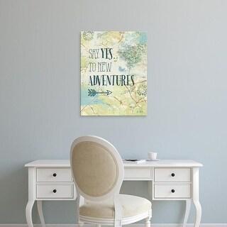 Easy Art Prints Katie Pertiet's 'Map Sentiments II' Premium Canvas Art