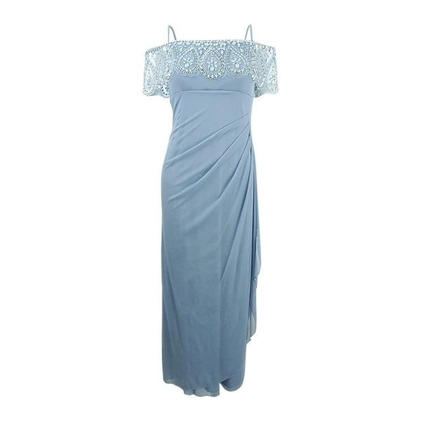 b875d48b Shop Xscape Women's Petite Embellished Off-The-Shoulder Gown - Free ...