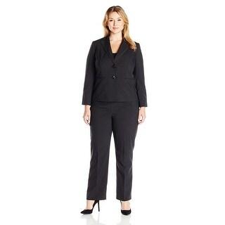 Le Suit Plus Size Two-Button Pinstripe Jacket Pant Suit - 20W