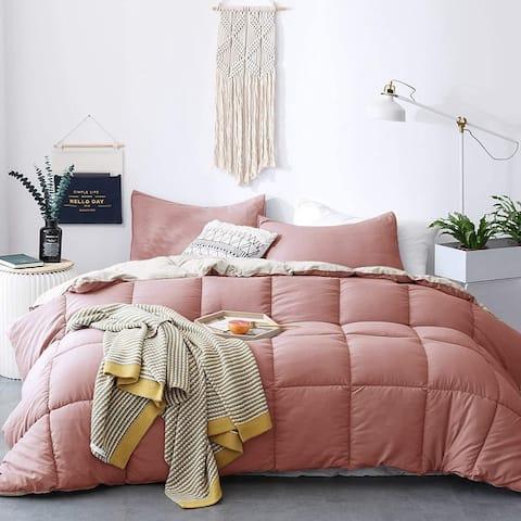 Kasentex All Season Down Alternative Quilted Comforter Set Reversible Ultra Soft Duvet Insert