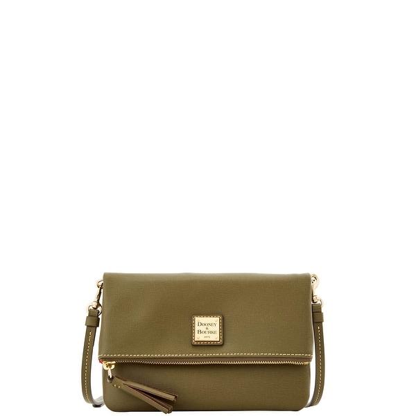 Dooney  amp  Bourke Saffiano Foldover Zip Crossbody Shoulder Bag  (Introduced by Dooney  amp