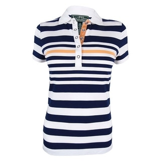 Ralph Lauren Women's Active Striped Polo Shirt - xs