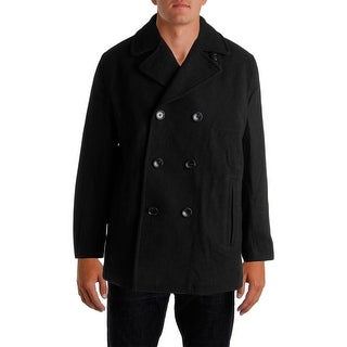 Michael Kors Mens Wool Long Sleeves Pea Coat
