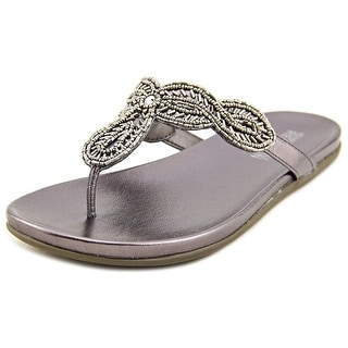 Kenneth Cole Reaction Slim-Tastic Women Open Toe Synthetic Silver Thong Sandal
