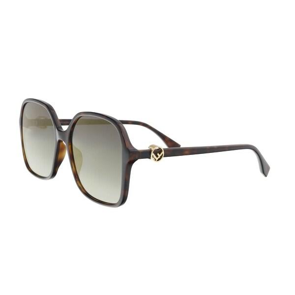 41d9d69e43eac Shop Fendi FF0287 S 0086 FQ Dark Havana Oversized Sunglasses - 58-18 ...