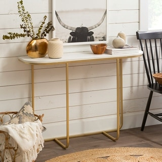 Link to Silver Orchid 44-inch Curved Entry Table Similar Items in Living Room Furniture