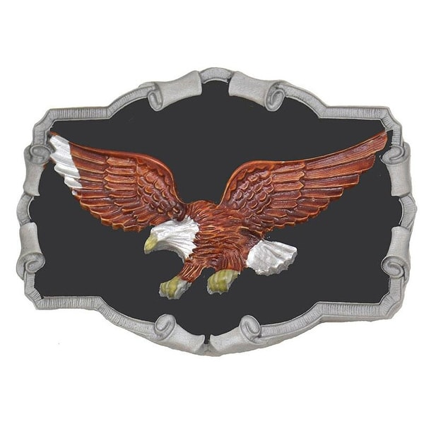 Flying Bald Eagle Belt Buckle - One size