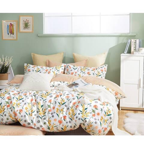 Estella Reversible Floral 100% Cotton Comforter Set