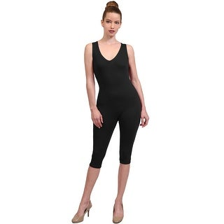 NE PEOPLE Women's Casual Sports Sleeveless Capri Solid Bodysuits