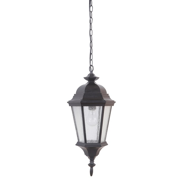 Craftmade Z2911 Chadwick Single Light 9 7 16 Wide Outdoor Mini Pendant With Clear Seeded Gl