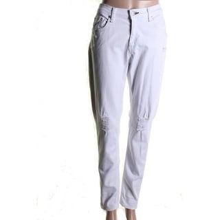 Rag & Bone Womens Dash Destroyed Mid-Rise Skinny Jeans - 29