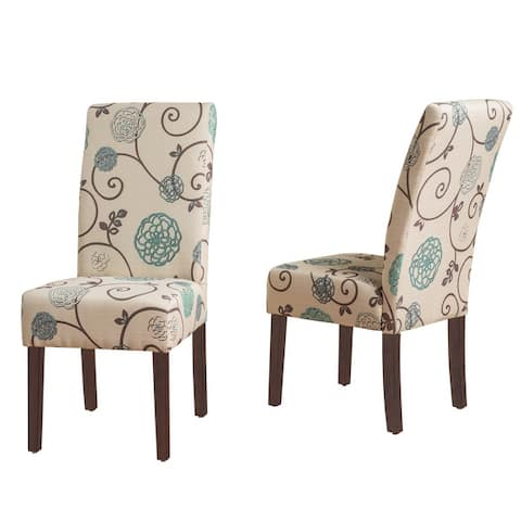 """Pertica Contemporary Fabric Dining Chairs (Set of 2) by Christopher Knight Home - 17.50"""" L x 26.75"""" W x 39.00"""" H"""