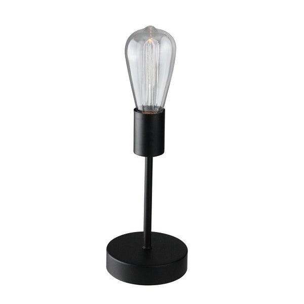 12 5 Battery Operated Vintage Style Edison Etched St64 Led Accent Lamp With Timer