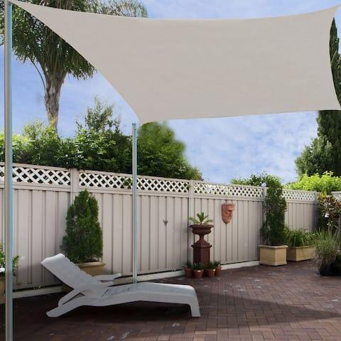 Outsunny 20' x 16' Rectangle Outdoor Patio Sun Sail Shade Canopy, Light Brown