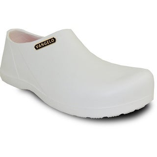 VANGELO Men Slip Resistant Clog CARLISLE White (Option: 5)