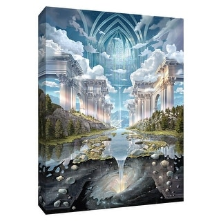 "PTM Images 9-148644  PTM Canvas Collection 10"" x 8"" - ""Genesis II"" Giclee Forests and Mountains Art Print on Canvas"