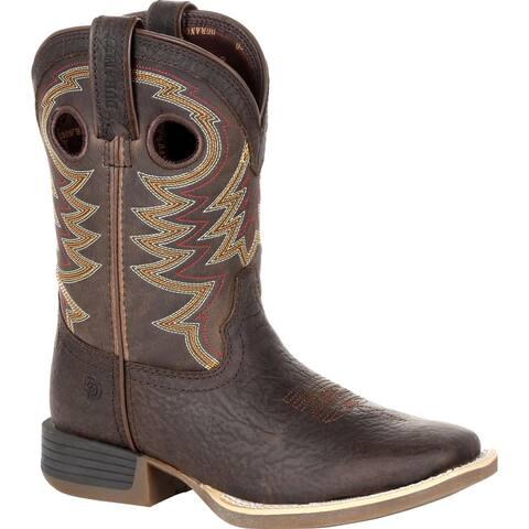 Durango® Lil' Rebel Pro Big Kid's Brown Western Boot, #DBT0219Y