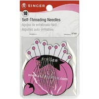 Size 1/3 10/Pkg - Self-Threading Needles W/Storage Magnet
