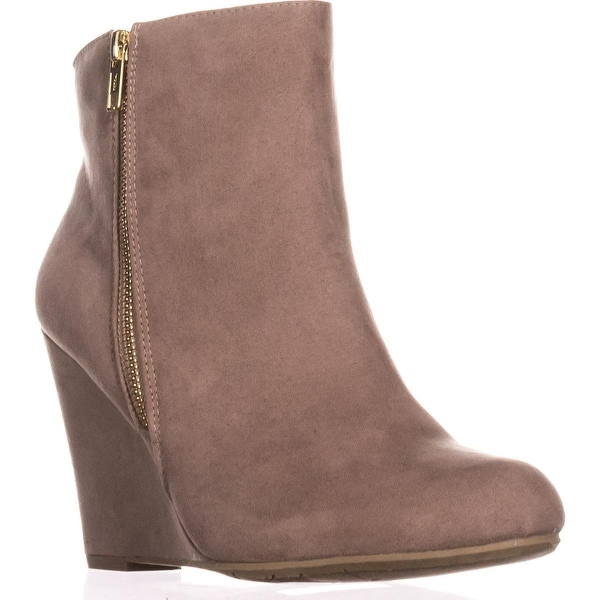Report Russi Closed Toe Ankle Platform Boots, Taupe