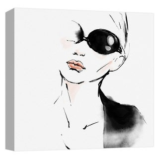 """PTM Images 9-124732  PTM Canvas Collection 12"""" x 12"""" - """"Elegant Style II"""" Giclee Audrey Hepburn Art Print on Canvas"""