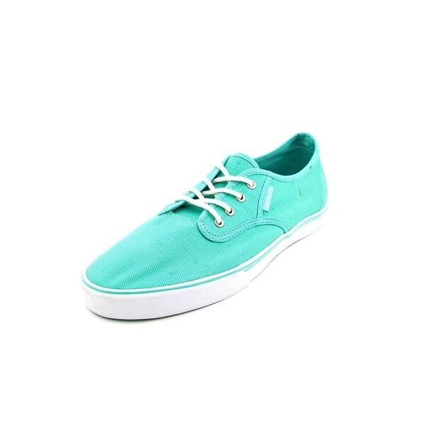 Men Round Toe Canvas Blue Skate Shoe