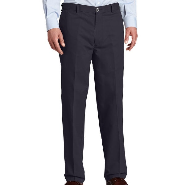 Dockers Mens Khaki Pants Navy Blue 42x32 Stretch Relaxed Fit Flat Front. Opens flyout.