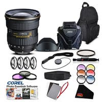 Tokina 12-28 F/4.0 PRO DX (for Canon) (Intl Model) Lens Accessory Kit - black